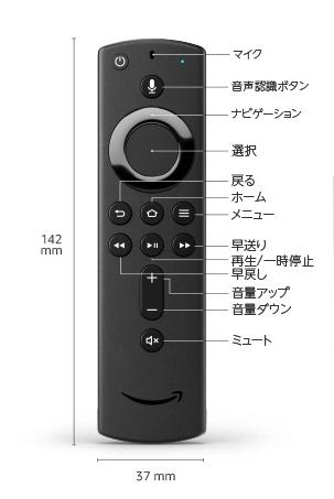 Fire TV Stickリモコンの説明