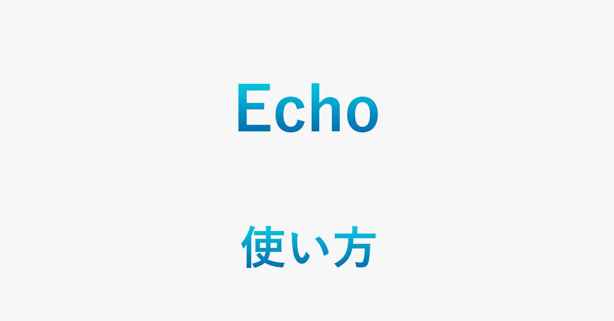 Echoの使い方は?デバイスの基本情報をご紹介