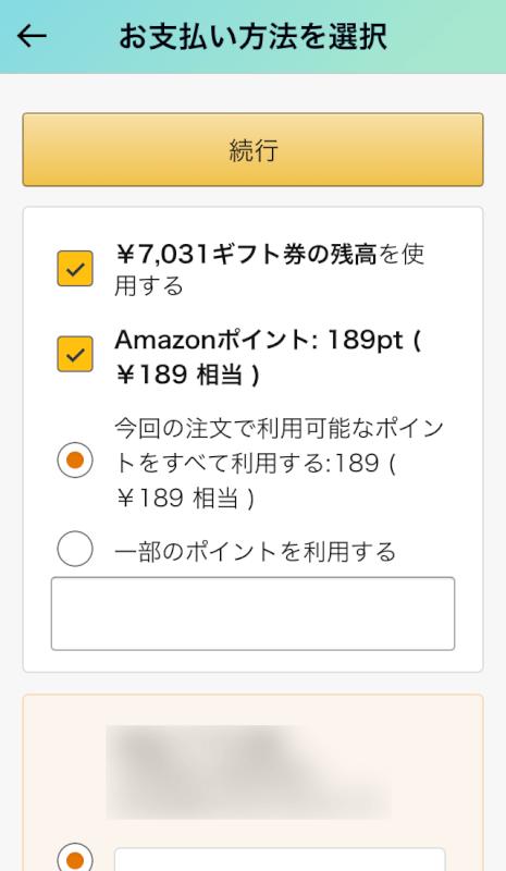 ギフト券・クレジットカード併用